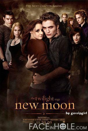 Gossipgirl na plakátě New moon