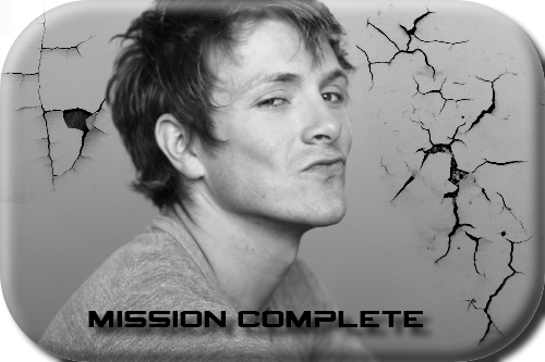 Mission complete - nápis